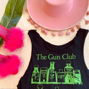 Vintage The Gun Club Distressed Band Tee S M